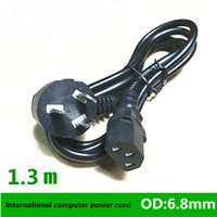 Wholesale Gb Converter - 1.3 meters GB power cord three flat bend power line computer mainframe supply power supply line DHL free shipping
