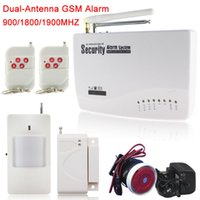 Wholesale Gsm Wired Security System - Russian English Spanish Voice 433MHz Wireless Wired Home Security Burglar GSM Alarm System Auto Dial SMS Call drop Shipping