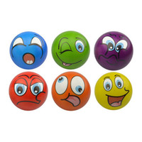 Wholesale Assorted Sports - Hot Soft PU Funny Emoji Face Stress Balls Squeeze Foam Ball Novelty Relax Toys Assorted Expression YYA452