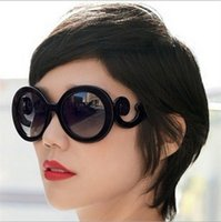 Wholesale Brand Catwalk - With Big Stars In Europe And America Tide Brand Catwalks Baroque Sunglasses Spray Clouds Butterfly Wings Sunglasses