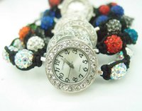 Wholesale Shamballa Bracelets Watch Crystal Beads - Wholesale-Sale shamballa bracelet watch women ladies fashion shamball crystal bead quartz wrist women watch