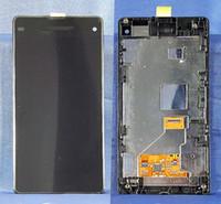 pantalla xperia z1 al por mayor-PANTALLA TÁCTIL LCD PANTALLA SCHERMO SONY XPERIA Z1 COMPACT D5503 MARCO NERO NEGRO