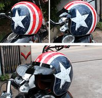 usa abs großhandel-2016 neue captain america flagge torc harley stil motorradhelm abs prinz helm t50 team usa motorradhelme