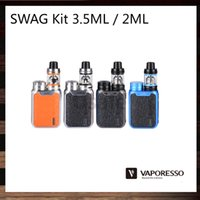Vaporesso SWAG Kit 3.5ml NRG SE Réservoir 2ml NGR SE Mini TPD Atomiseur 80W SWAG TC BOX Mod Évolutif OMNI 2.0 Chip 100% Original