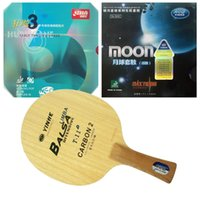 Wholesale Dhs Hurricane Blade - Galaxy T-11+ with Blade with Moon (Factory Tuned)  DHS NEO Hurricane 3 Rubbers for a table tennis (PingPong) racket