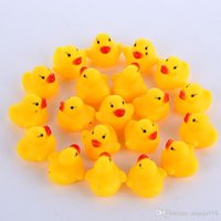 Wholesale Ems Toys - High Quality Baby Bath Water Duck Toy Sounds Mini Yellow Rubber Ducks Bath Small Duck Toy Children Swiming Beach Gifts EMS shipping E1277