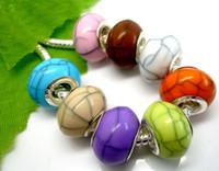 ingrosso resina cracking-100pcs misto bello cracked grandi perle di resina foro per i braccialetti europei e prezzo basso dei monili della collana