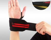 el bantları spor toptan satış-1 Çift Halter Bileklik Spor Mesleki Eğitim El Bantları Gym Fitness Için Bilek Desteği Sapanlar Sarar Muhafızları