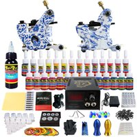 solong tattoo Professionelle komplette tattoo kit 2 Tattoo Maschinengewehre 28 tattoo tinten Tattoo Nadeln stromversorgung TKB12 freies schiff DHL