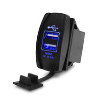 Wholesale Mini Power Style - New Brand Car-styling Universal 2-Port Power USB Charger 12-24V 3.1A Car Charger Mini Car Cigarette Lighter Socket Charger