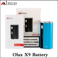 mod x9 venda por atacado-Autêntico Mjtech Olax X9 Mod Box olax 1500 mAh Bateria Vape caneta Mod com Display LCD Fit 510 Tópico RDA Atomizador