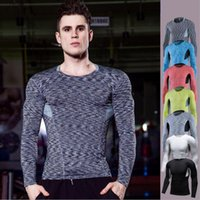 Compression Tight Shirt Longsleeve Laufen Baselayer Rash Guard Gym Workout