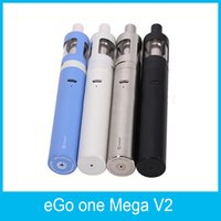 Barato Bobina Do Ego V2-2016 100% Original Joyetech eGo ONE Mega V2 Starter Kit 2300mah Bateria 4ml eGo One Mega V2 Atomizer Novo CL Pure Cotton Coil Head