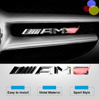 Wholesale Decoration Trim Line - For Mercedes-Benz Class W204 W205 2012- 2015 GLK ML W166   GL X166 3D Car Badge Sticker AMG Front Grille Emblem Trim accessories