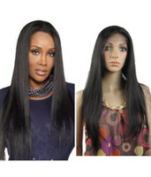 Wholesale Layer Lace Front Wigs - 9A Virgin Chinese Human Hair Natural Straight Full Lce Wigs Glueless Full Lace Human Hair Wigs Layer Straight Lace Front Wigs