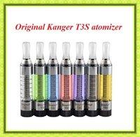 Wholesale Ego Twist V3 - Kanger T3S Atomizer Original 3.0ml CC Clearomizer Kanger T3 Vaporizer 510 EGO Thread VS Twisted messes v2 Billow v3 fit Evod battery