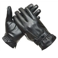 Wholesale Chic Mens Marketing Luxurious PU Leather Winter Super Driving Warm Gloves Cashmere Tactical Gloves For Men