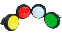 Wholesale Wholesale Arcade Machines - 6 pcs of 60mm lighted button Illuminated round Push Button with microswitch for arcade game machine, backetball game machine