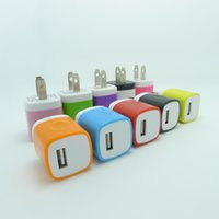 Wholesale Plug Adapter Home - US Plug USB Wall Home Travel Charger Adapter for samsung cell phones 100pcs