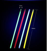 браслеты оптовых-100 шт. 8 дюймов Mix Color Glow Stick Безопасный Light Stick Ожерелье Браслеты Флуоресцентные для Событий Праздничные Праздничные Атрибуты Концерт Декор