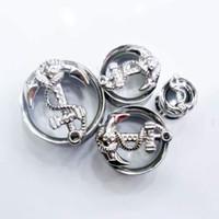 Wholesale Anchor Ear Plugs - Top Quality Anchor Shape Flesh Tunnel Piercings,Gauges Flesh Ear Stretchers For Men Women Body Piercings Jewelry BJ7292