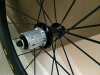 Wholesale Bike Hub Single Speed - Deercycles Track 23mm wide, 700c 88mm Carbon Tubular Bike Wheels, Single Speed Bicycle wheelset, Fixed Gear Novatec hubs Cycling