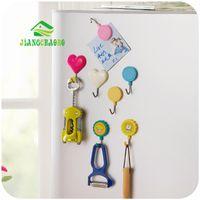 Wholesale Hangers Magnets - Wholesale- 2 Pcs Set Lovely Ultra-Powerful Super Strong Magnetic Hanger Hook Microwave Oven Kitchen Refrigerator Magnet Hook