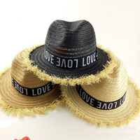 Wholesale Large Brimmed Hats For Women - 2016 Fashion Women's Foldable Wide Large Brim Ladies'Cap Beach Floral Sun Caps Floppy Rafi Straw Hat Summer Hats for Women child