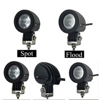 Wholesale Led Work Lamp 12v Round - 4800lm 10W 12V Car CREE LED Light Bar Work lamp flood or spot light for Motorcycle Tractor Driving Offroad Boat Hunting Fishing SUV ATV