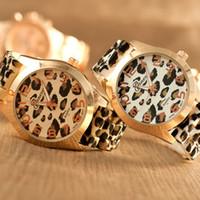 Wholesale Wholesale Leopard Watches - 2016 Women Watches Fashion Geneva Leopard Quartz Watch Luxury Ladies Dress Wrist Watch Silicone Wristwatches Wristwatch Accessories Gifts