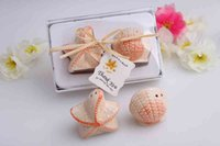 Wholesale Starfish Salt Pepper Shakers - 2pcs lot Ceramic Shells starfish Salt & Pepper Shaker Wedding Favors & Gifts For Guests Souvenirs Decoration Event & Party Supplies