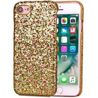 Hard Case Glitter Bling For Leather Iphone 7 Plus I7 Iphone7 Fashion Placage Gluing Shiny Étincelle peau Couverture Colorful luxe téléphone 200pcs