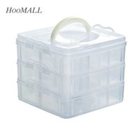 Wholesale Hoomall Plastic Compartments Storage Box Case For Beads Rings Jewelry Display Organizer Jewelry Box Case