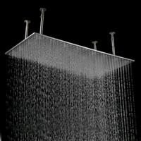 techo de acero inoxidable cepillado al por mayor-Venta caliente lluvia lluvia cabeza 500 * 1000 mm gran lluvia techo 304 acero inoxidable cabeza de ducha cepillada para baño
