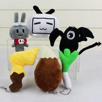 desenhos animados verdes do coelho venda por atacado-Chaveiro Dos Desenhos Animados Bilibili Coelho Verde Cebola Preto Bat Pikachu Cauda Eevee Cauda Saco Pingentes de Pelúcia Pingentes de Pelúcia boneca brinquedo