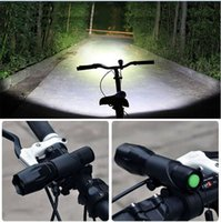 zoom fahrrad großhandel-Fahrrad Licht 3800 Lumen 5 Modi Taschenlampe XML-T6 LED Radfahren Frontlicht Zoom Wasserdichte Fahrradbeleuchtung mit Taschenlampe