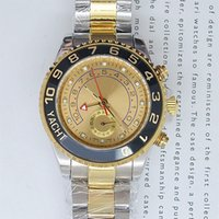 Wholesale white faced watches for men resale online - Fashion Brand New White Face Ceramic Sapphire Luxury Mens Automatic Mechanical Watches Classic Two Tone Pointer Stainless Wristwatch For Men