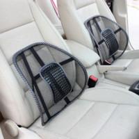 Wholesale Mesh Car Cushion - Car Covers Mesh Lumbar Back Brace Support Office Home Car Seat Cushion Car styling Car Seat Back Support