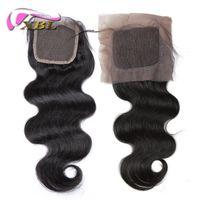 Wholesale Silk Top Closure Free Shipping - Top Closure For Lace And Silk Base Virgin Human Hair Indian Brazilian Malaysian Peruvian Virgin Human Hair Closure Free Shipping