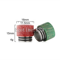 Wholesale Wood O Ring - Stabilized wood drip tips dual O ring Wide Bore for TFV8 Atomizer Tank Kooper ijoy Tornado Griffinn Primus 300W Mod & H-PRIV TC Mods