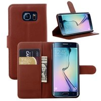 Colorful portefeuille étui en cuir PU pour Samsung Galaxy S5 S6, S6Edge, S6 bord Plus, S7, S7 plusS7 bord Note 5 7 support cas de carte de fente de support