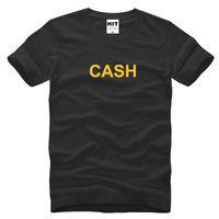 Wholesale Cotton Fashion Shorts - WISHCART CASH MONEY Letter Printed spoof creative funny T Shirt Men T-shirt Mens 2016 Short Sleeve Cotton Tshirt Tee Camisetas Hombre