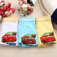 Wholesale Cars Color Mcqueen - hot sales cartoon Lightning McQueen 95 car boys trunk boxers kids shorts child panties cotton pants children underwear briefs 100pcs lot