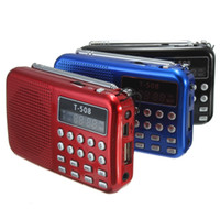 módulo do altofalante do telefone móvel venda por atacado-Freeshipping Mini Portátil 50mm Interno Magnético T508 LEVOU Rádio FM Estéreo Speaker USB TF Cartão MP3 Player de Música