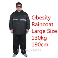 Wholesale Raincoat Women Large - Big szie Professional raincoats 5XL size plus + XXXXXL large size raincoats 130kg rain coat Large waistline raincoat suit