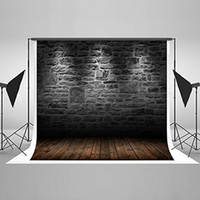Wholesale Brick Wall Photography Backdrop - Kate 6.5x5ft Black Brick Wall Photography Backdrop Fabric Material Customized Photo Background Studio Seamless Can be ironed No crease