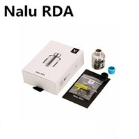 Wholesale rda atomizer clone resale online - Clone Nalu RDA Atomizer With Glass Window Bottom Airflow Two Post Glass Integrated RDA Silver Black Colors High quality DHL Free