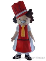 Wholesale Mascot Costumes For Girls - SX0727 Good quality a lovely girl mascot costume with red dress and red hat for sale