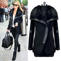 Wholesale Heat big European and American winter new high quality FUR WOOL COAT woolen coat lady s fashion personality Jacket F002