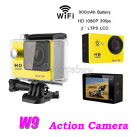 Wholesale lcd camera hdmi for sale - Sports Cameras W9 Waterproof M WiFi Full HD P fps inch Wide Angle Helmet Action Cameras HDMI Car DV DVR